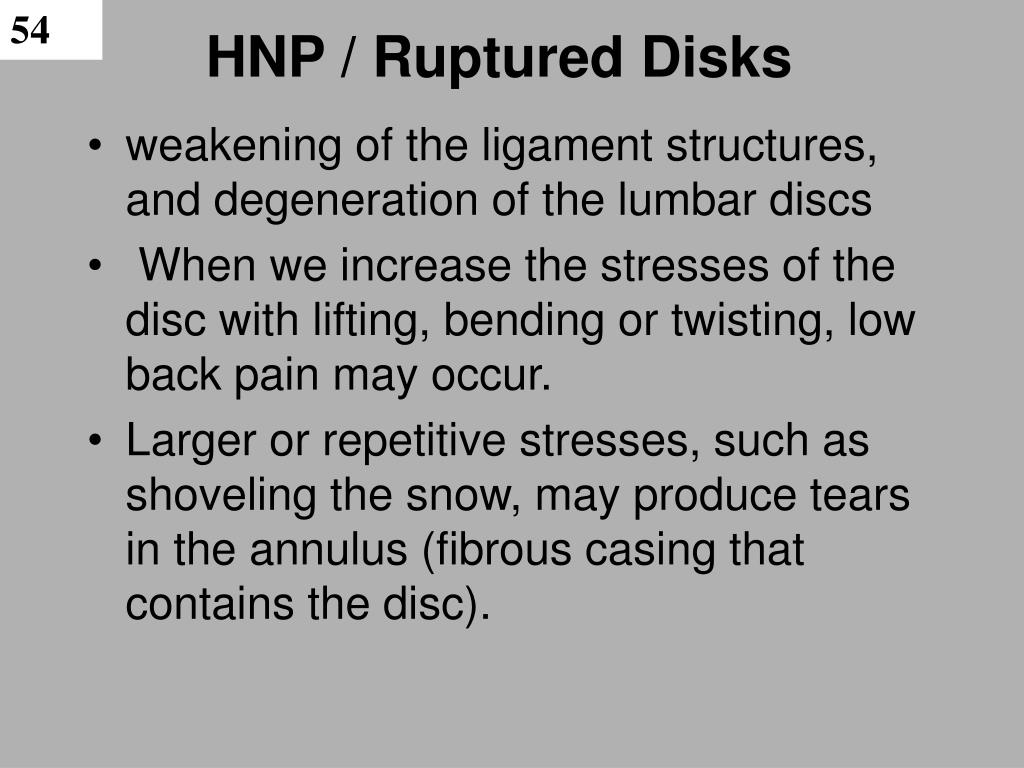 HNP / Ruptured Disks