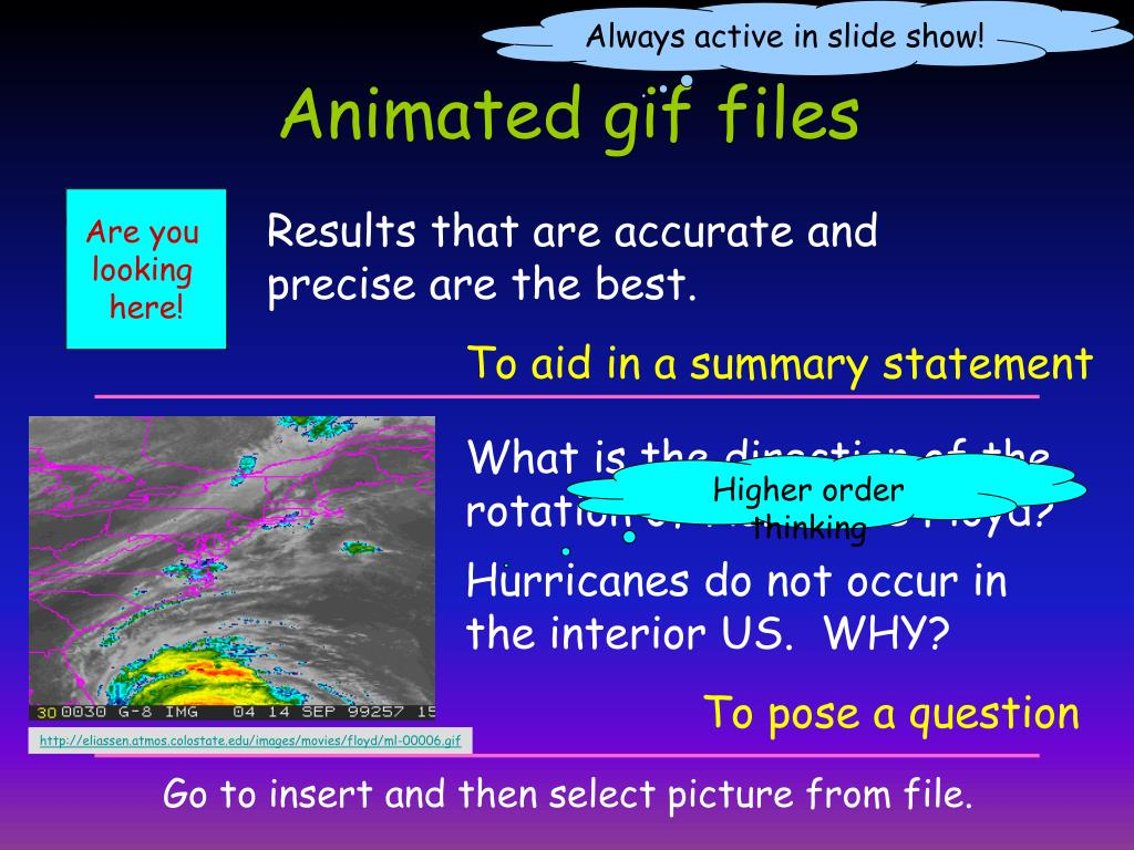 Always active in slide show!