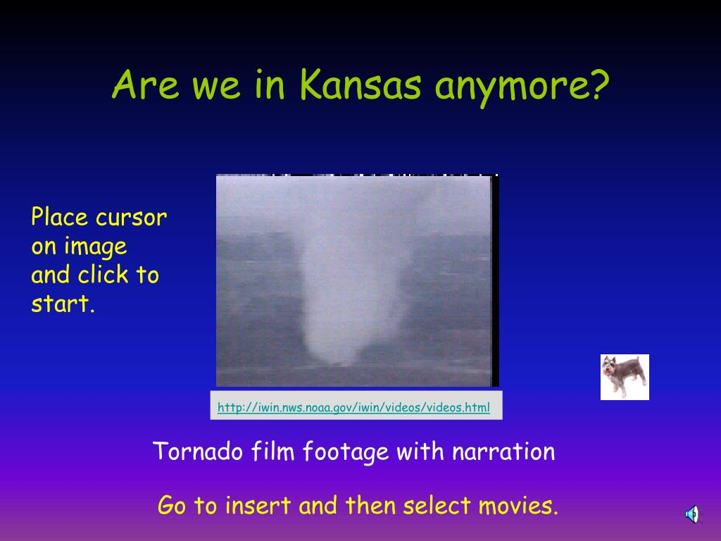 Are we in Kansas anymore?