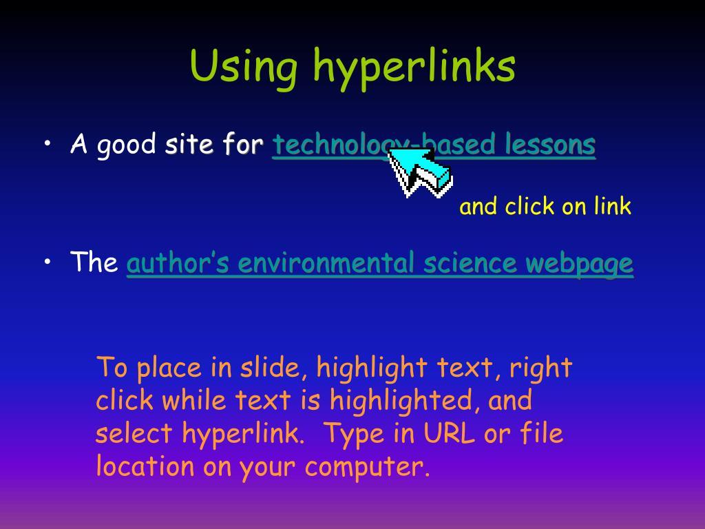 Using hyperlinks