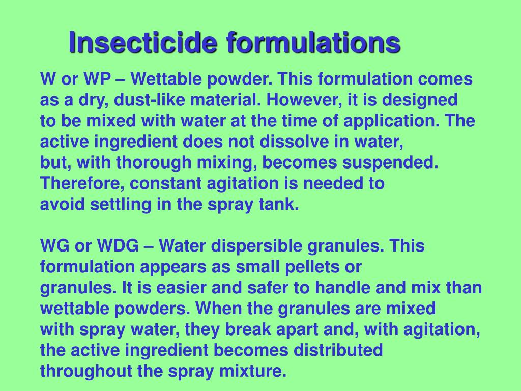 Insecticide formulations