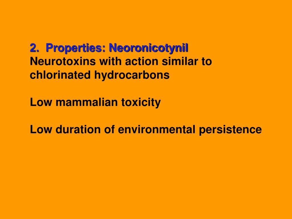 2.  Properties: Neoronicotynil