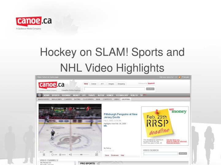 Hockey on slam sports and nhl video highlights