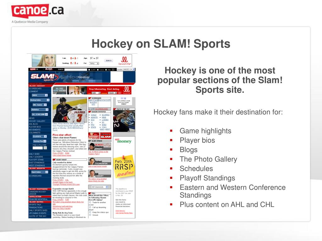 Hockey on SLAM! Sports