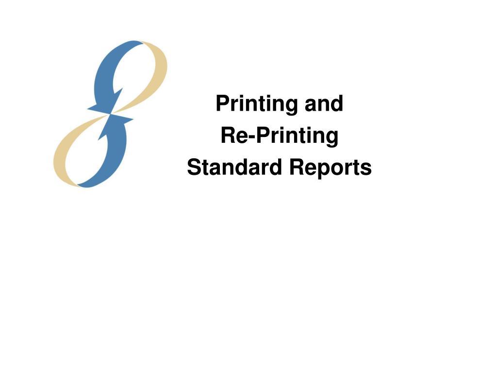 Printing and
