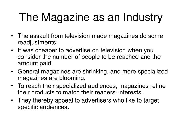 The magazine as an industry
