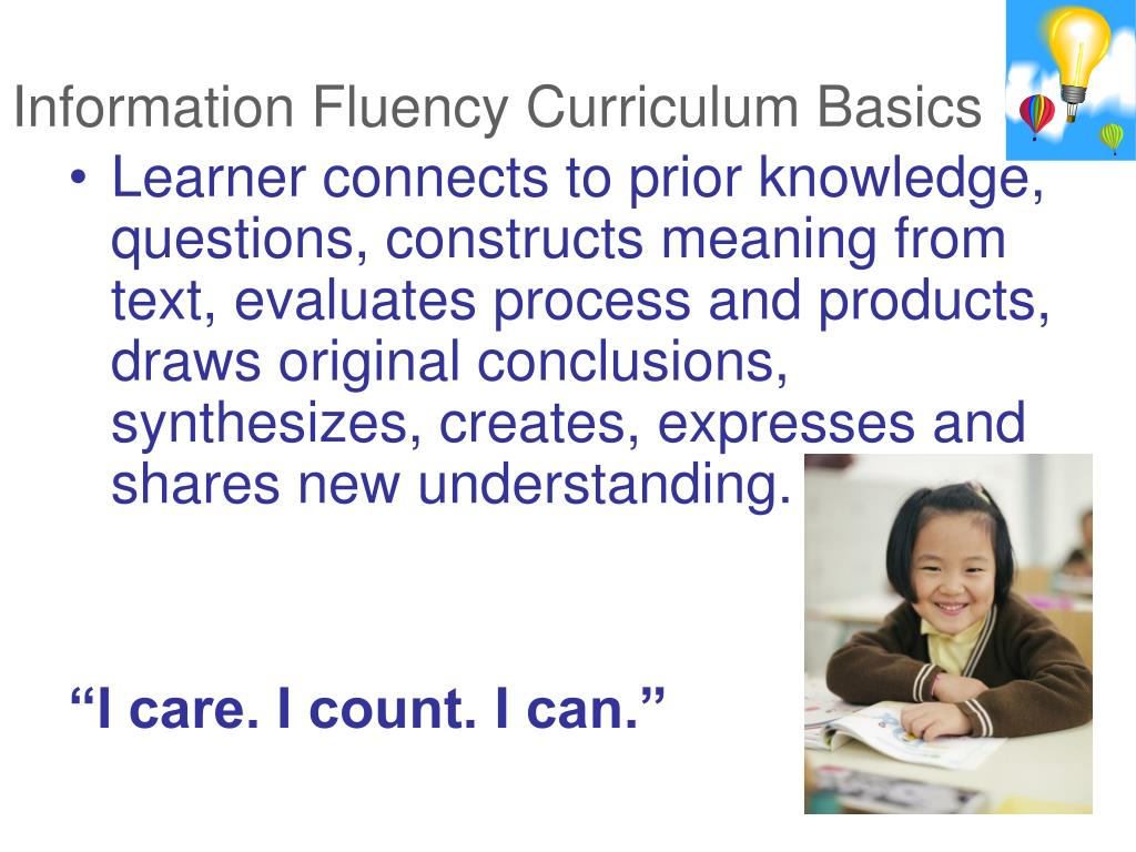 Information Fluency Curriculum Basics