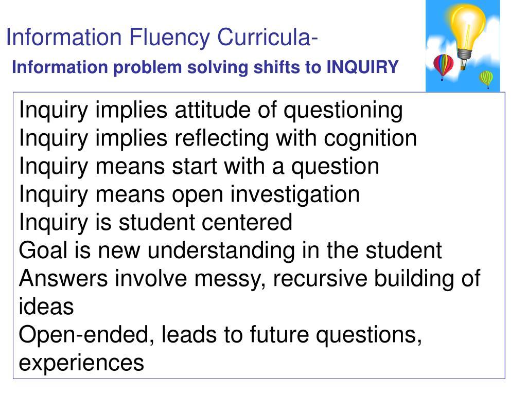 Information Fluency Curricula-