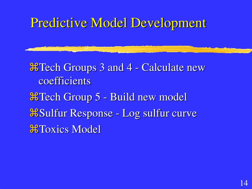 Predictive Model Development