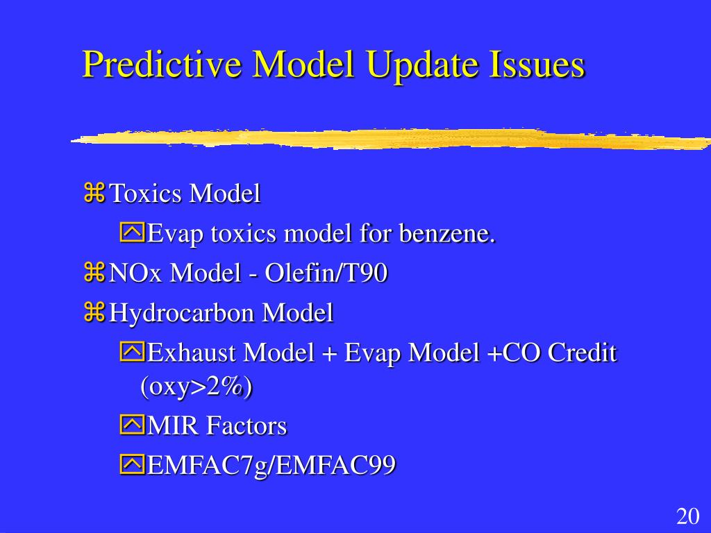 Predictive Model Update Issues