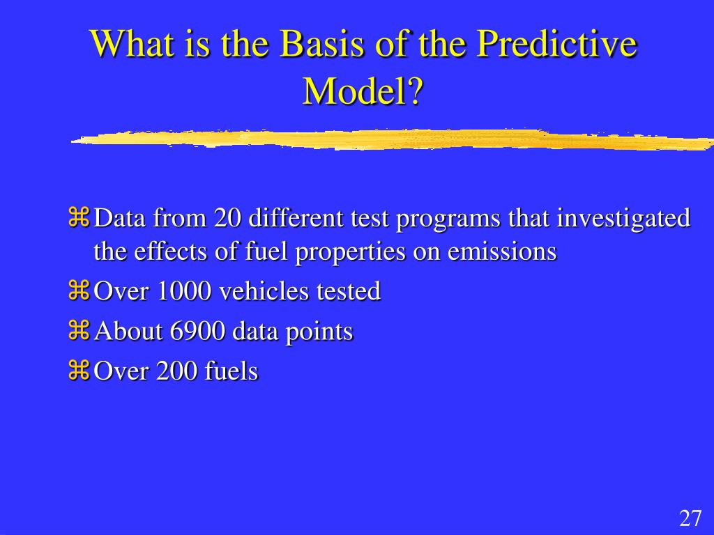 What is the Basis of the Predictive Model?
