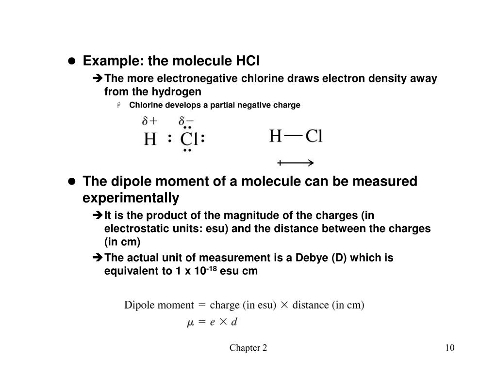 Example: the molecule HCl