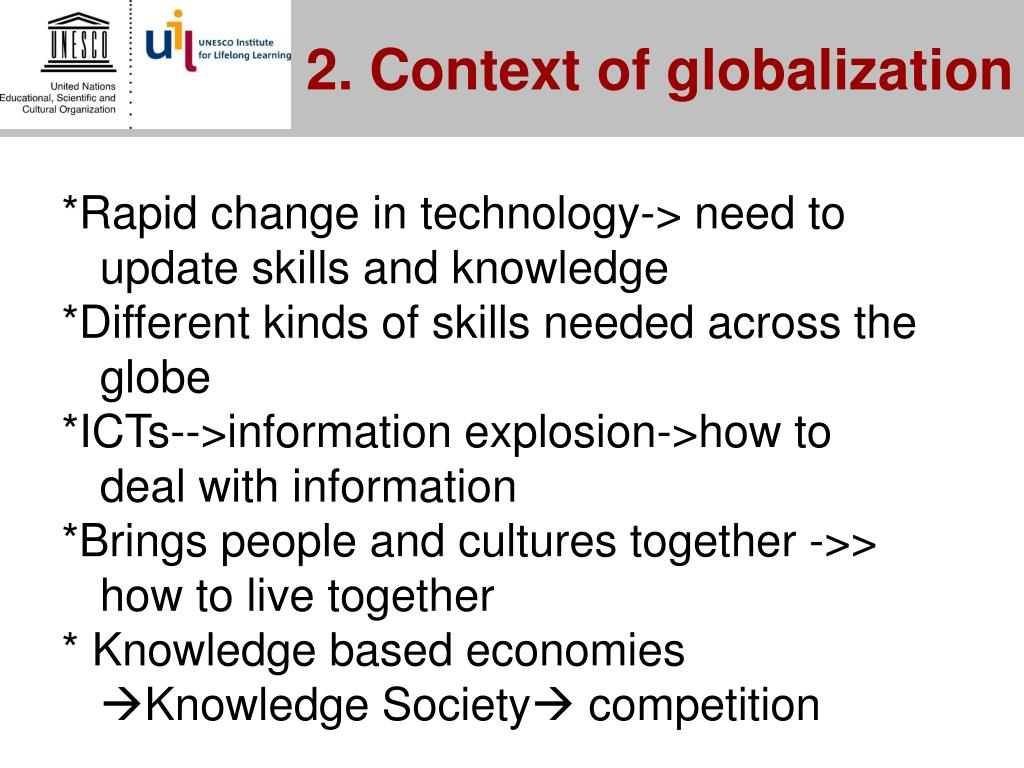 2. Context of globalization