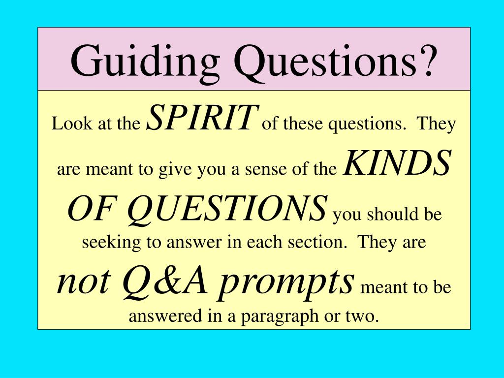 Guiding Questions?