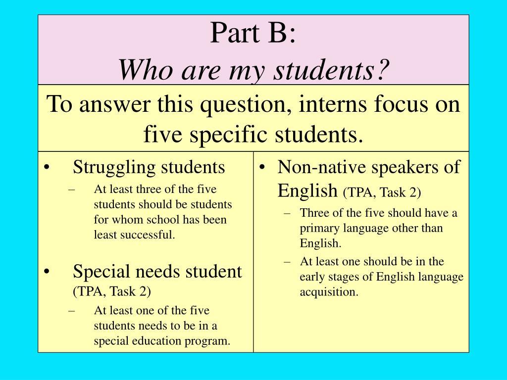 Struggling students
