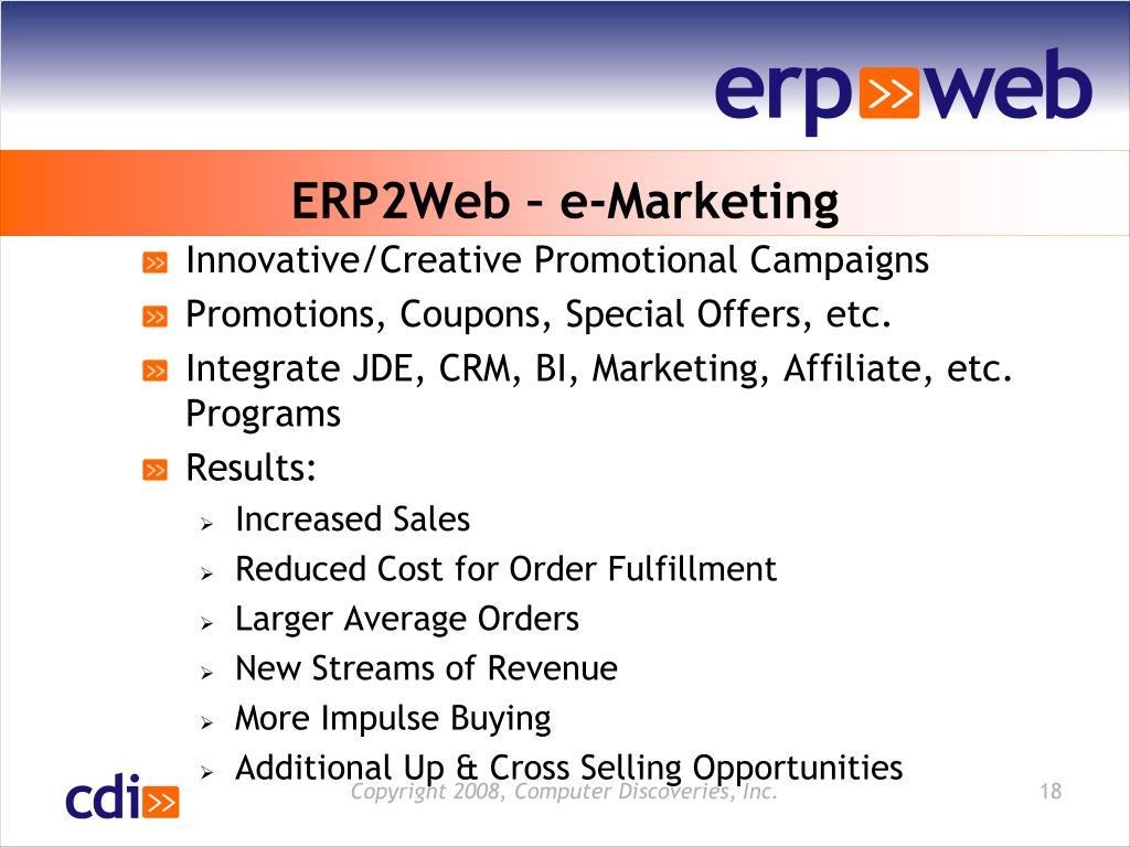 ERP2Web – e-Marketing