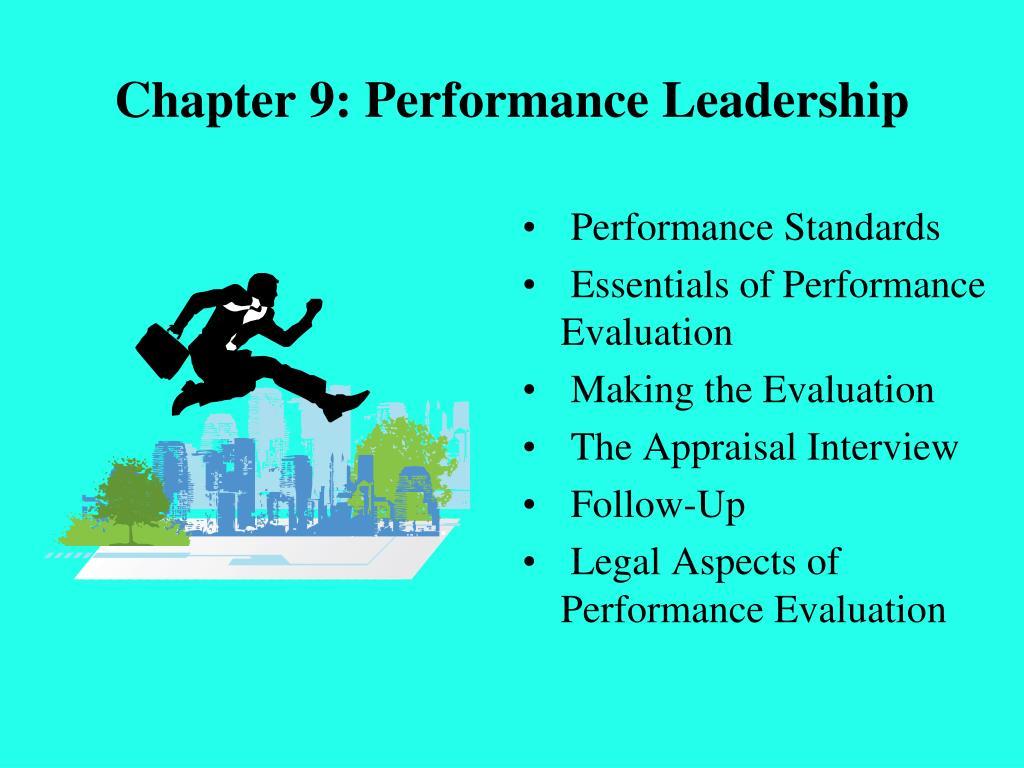 Chapter 9: Performance Leadership