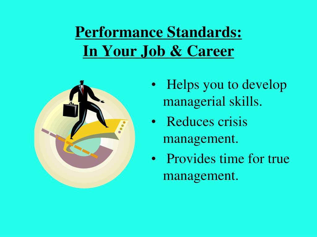 Performance Standards: