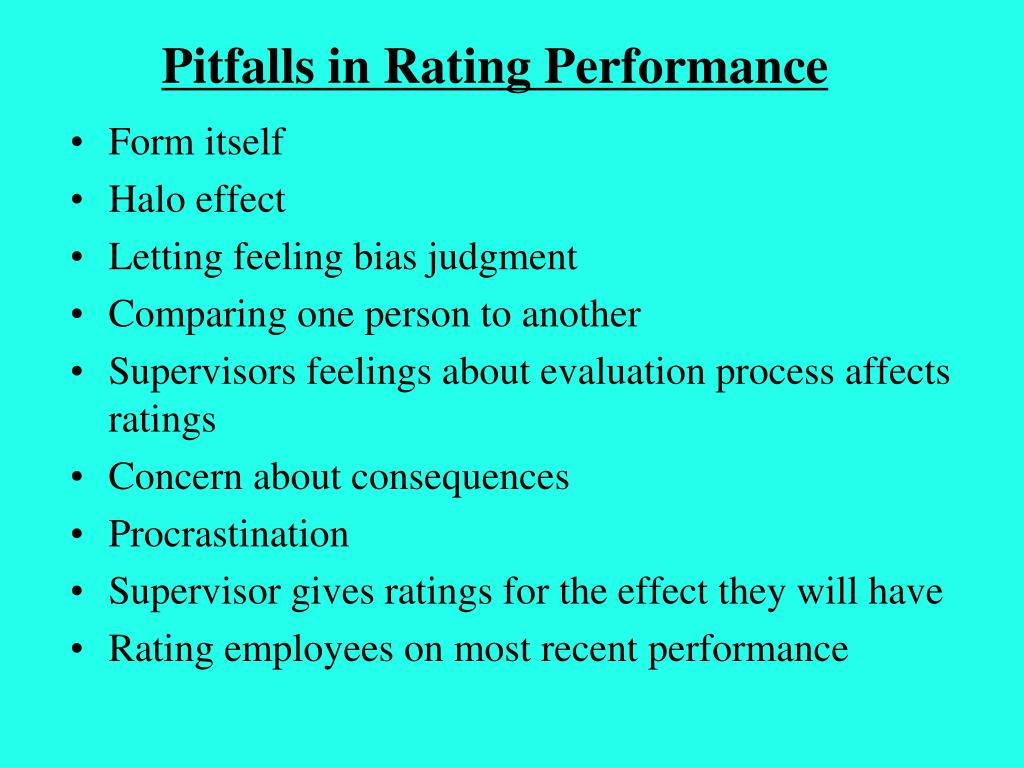 Pitfalls in Rating Performance