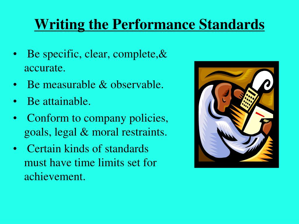 Writing the Performance Standards