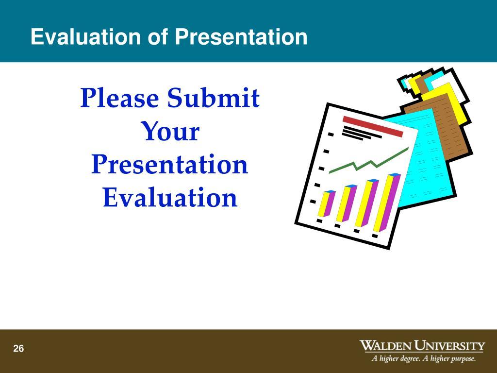 Evaluation of Presentation