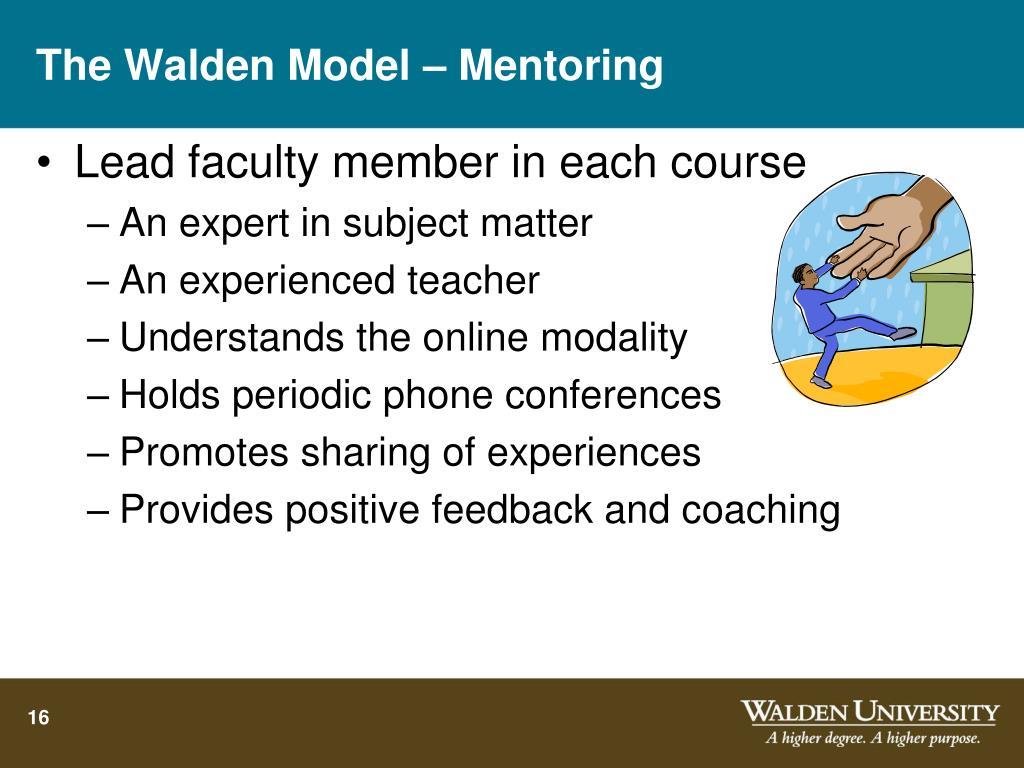 The Walden Model – Mentoring