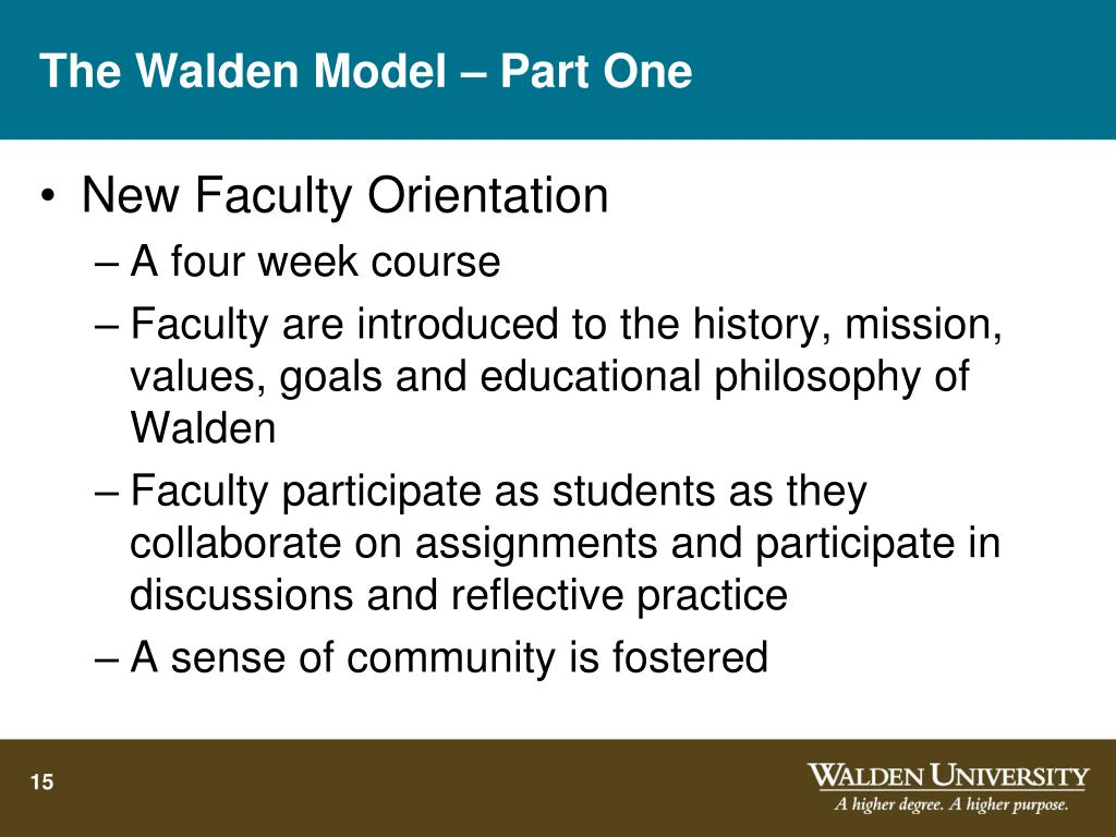 The Walden Model – Part One