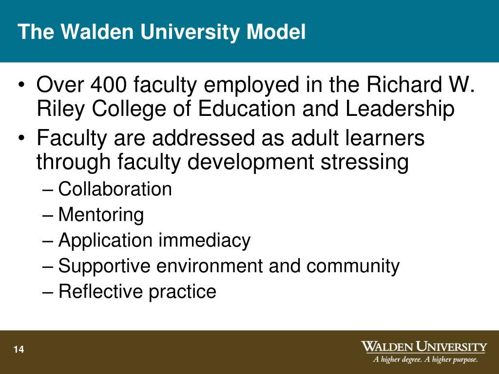 The Walden University Model