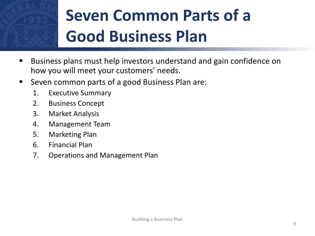 Major Sections Of A Business Plan
