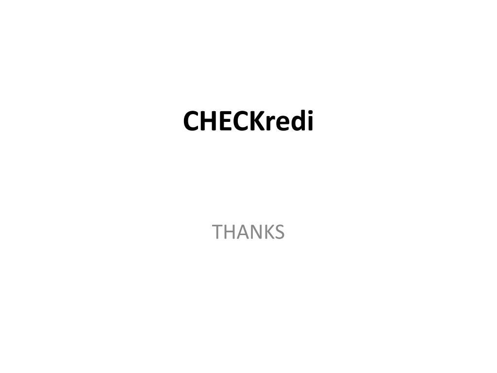 CHECKredi