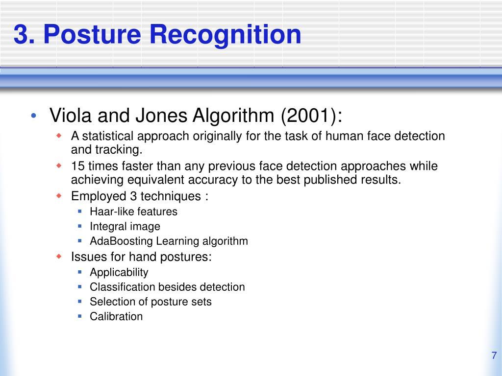 3. Posture Recognition
