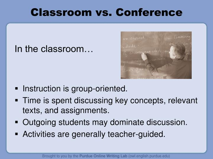 Classroom vs conference