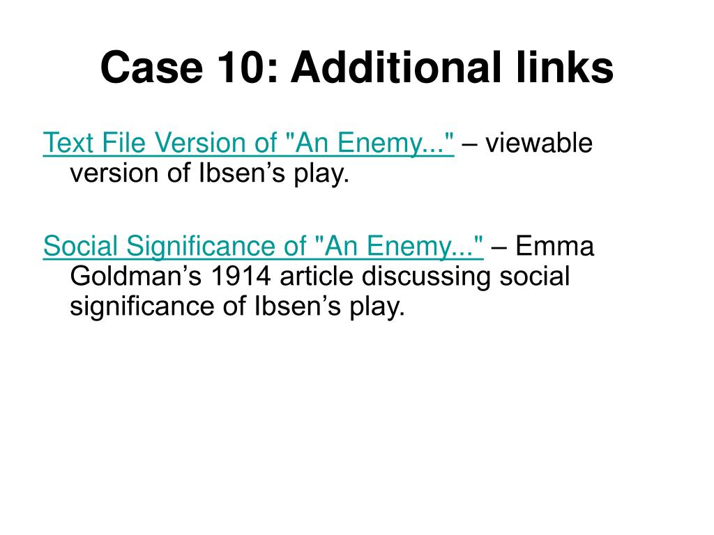 Case 10: Additional links