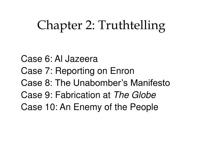 Chapter 2 truthtelling
