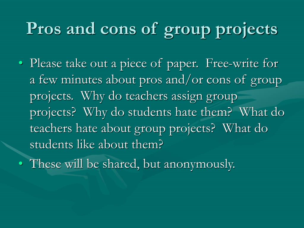 Pros and cons of group projects