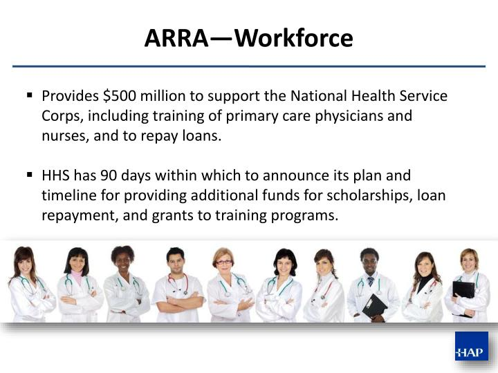 Provides $500 million to support the National Health Service Corps, including training of primary care physicians and nurses, and to repay loans.