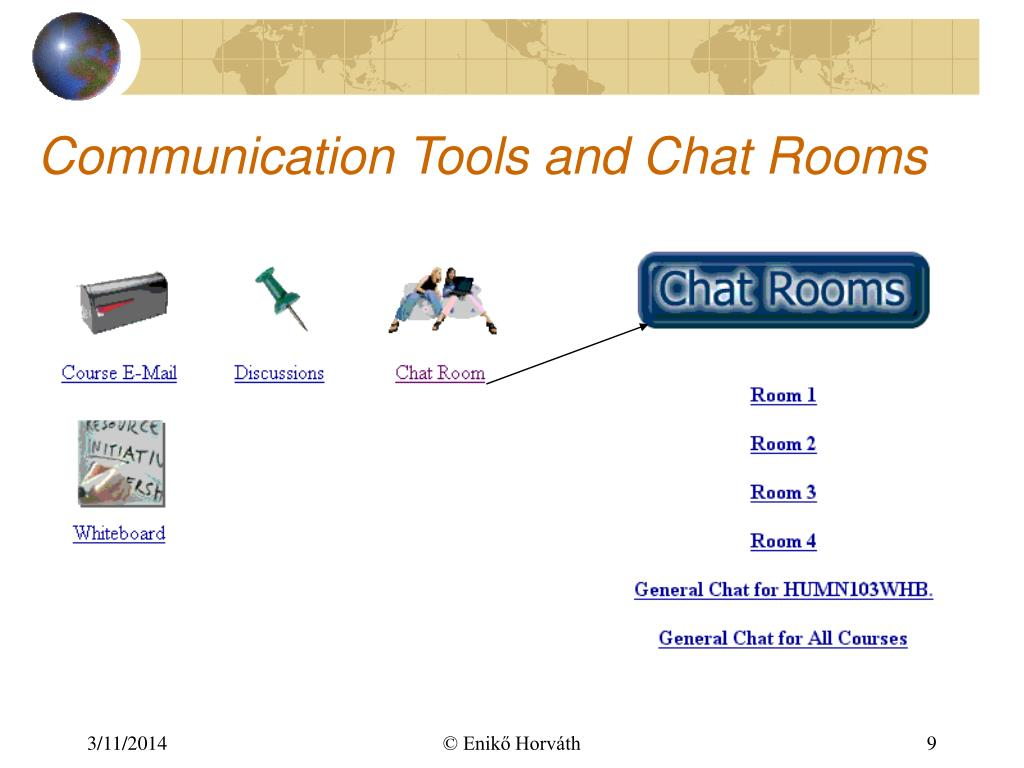 Communication Tools and Chat Rooms