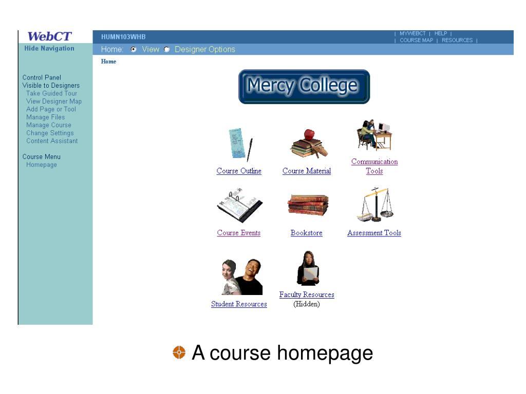 A course homepage