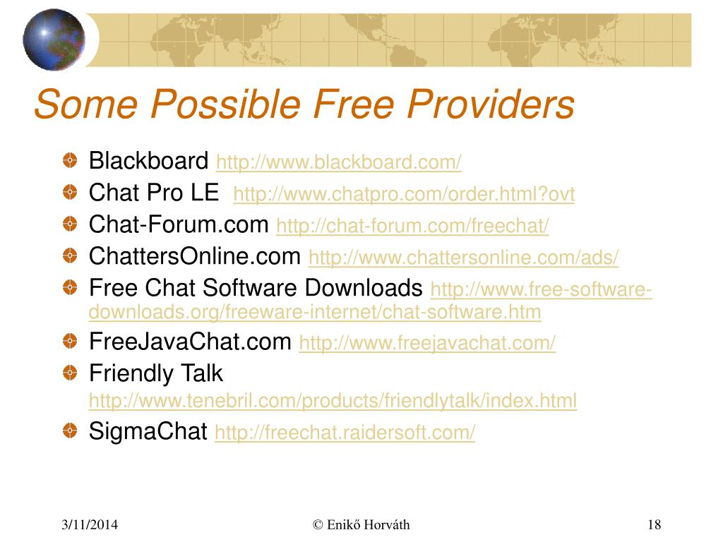 Some Possible Free Providers