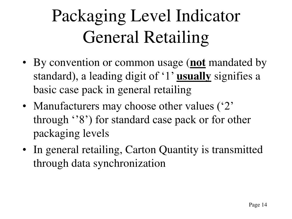 Packaging Level Indicator