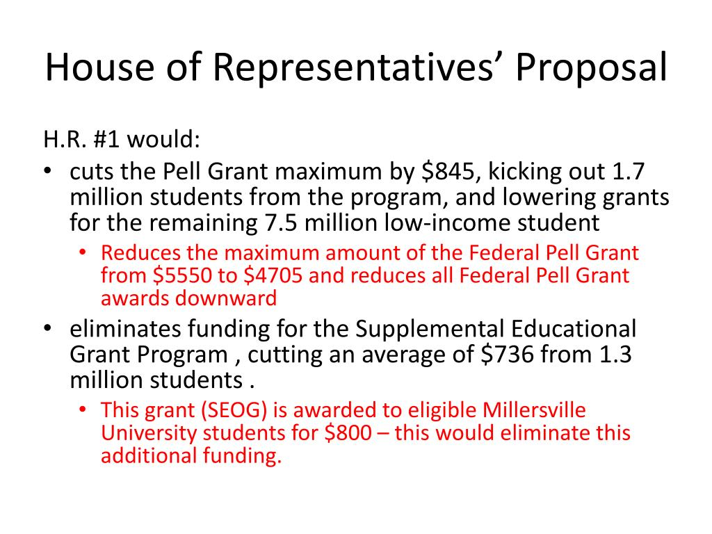 House of Representatives' Proposal