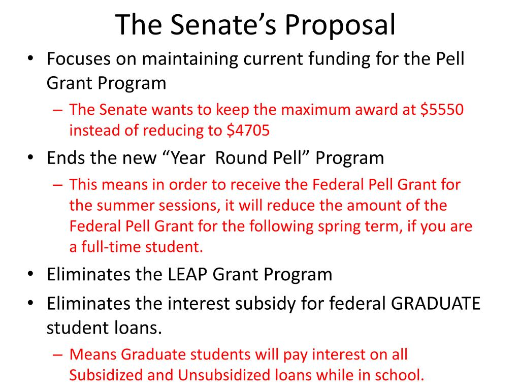 The Senate's Proposal