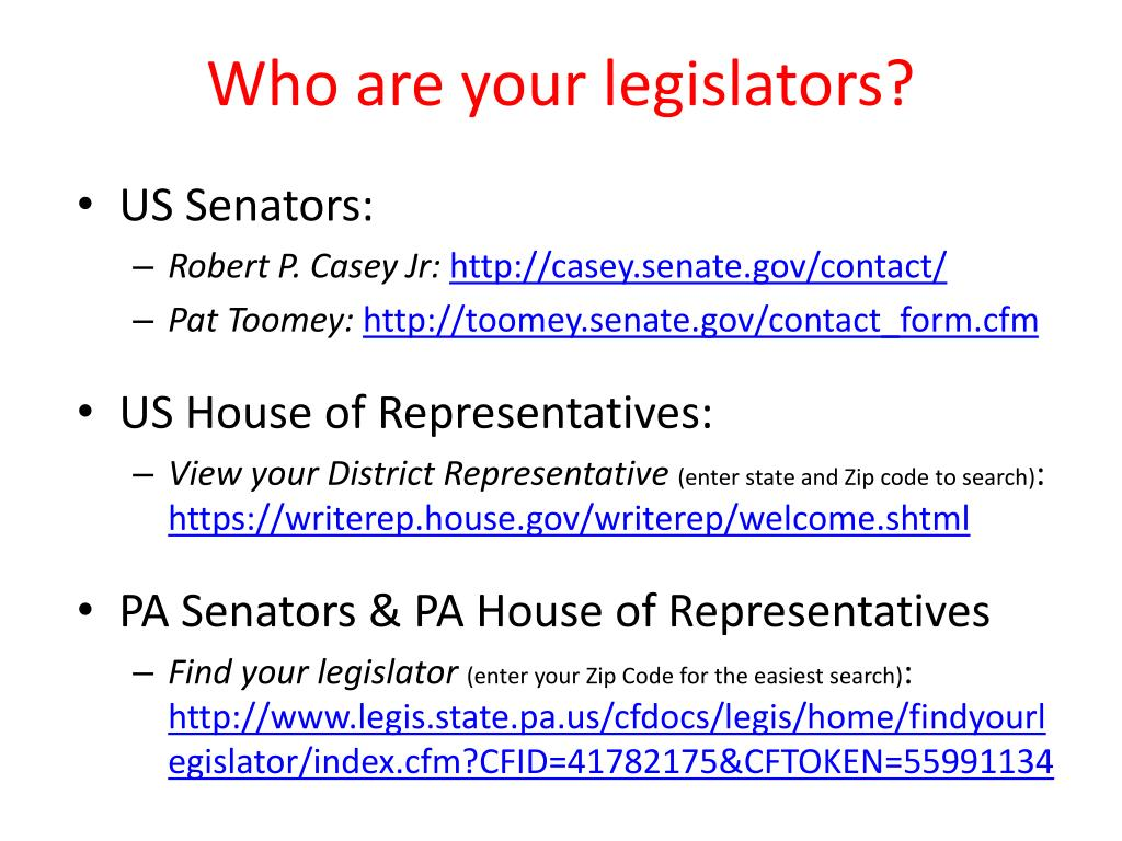 Who are your legislators?