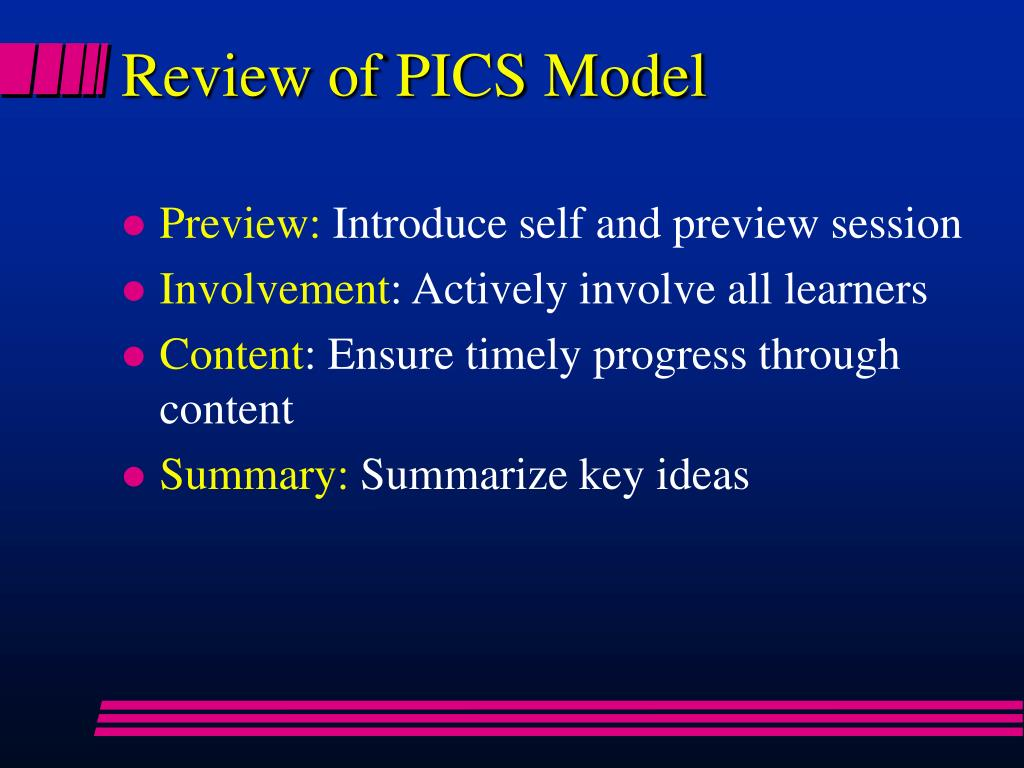 Review of PICS Model