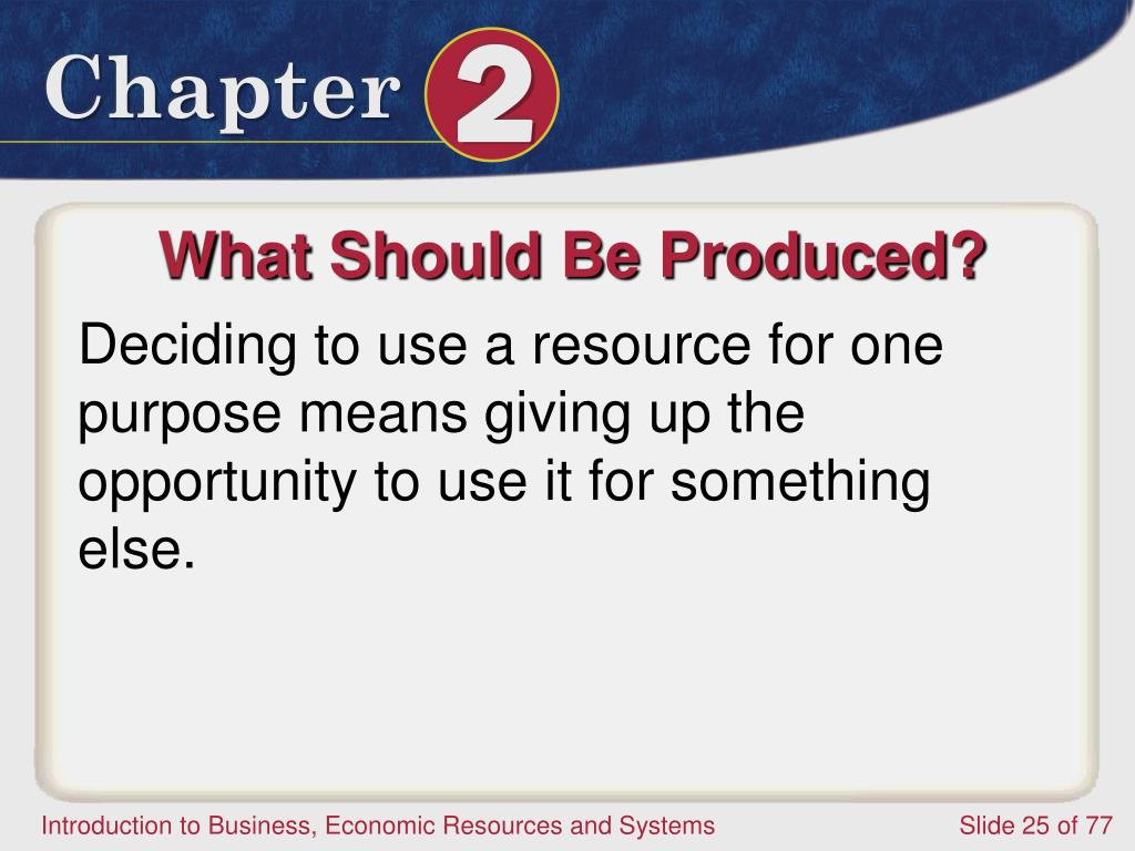 What Should Be Produced?