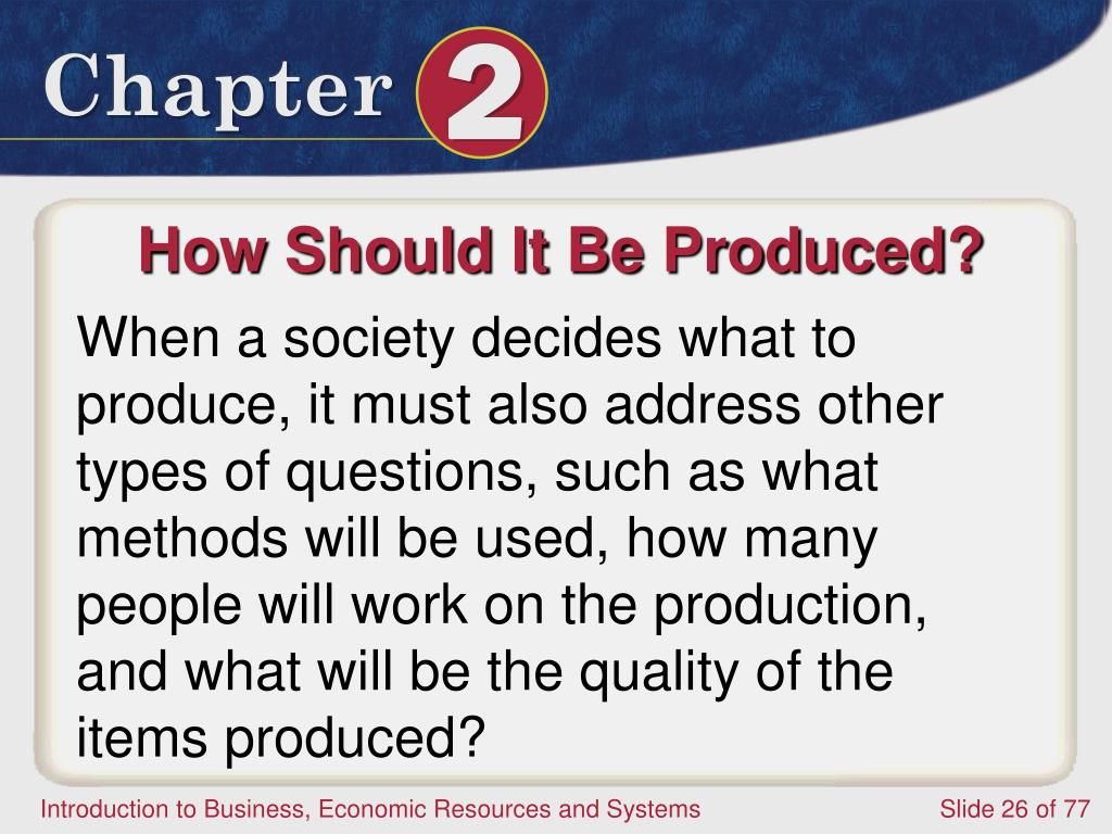 How Should It Be Produced?