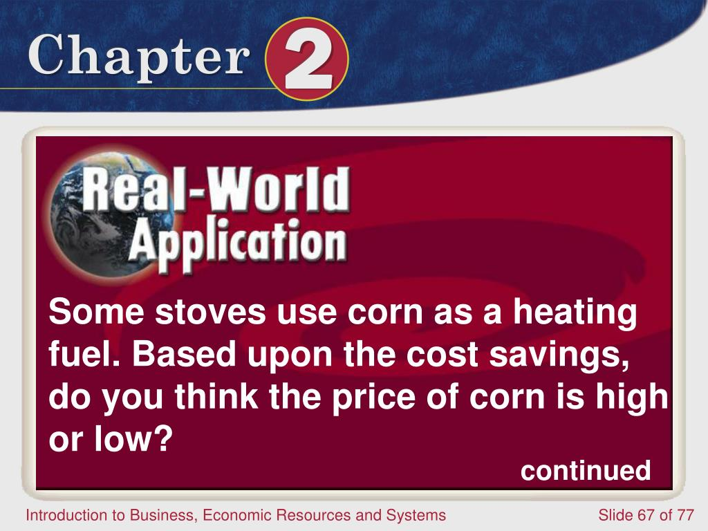 Some stoves use corn as a heating fuel. Based upon the cost savings, do you think the price of corn is high or low?