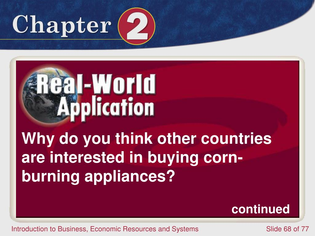 Why do you think other countries are interested in buying corn-burning appliances?