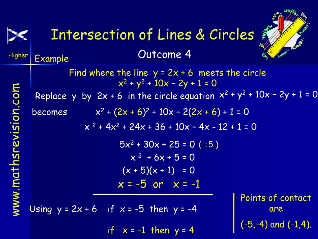 Intersection of Lines & Circles