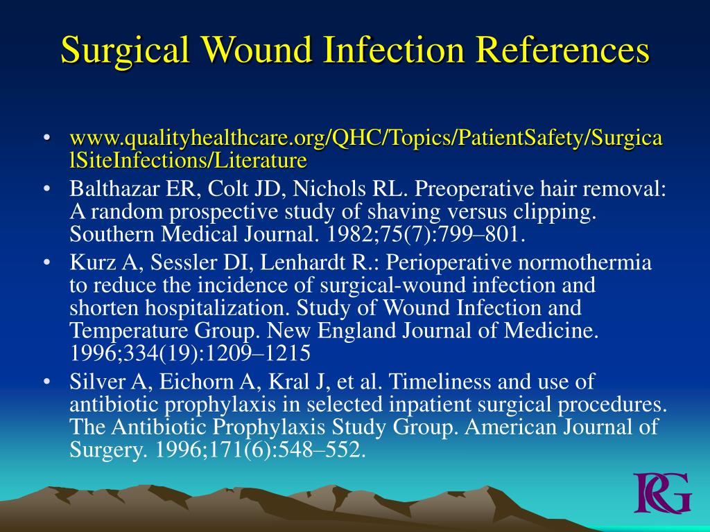 Surgical Wound Infection References